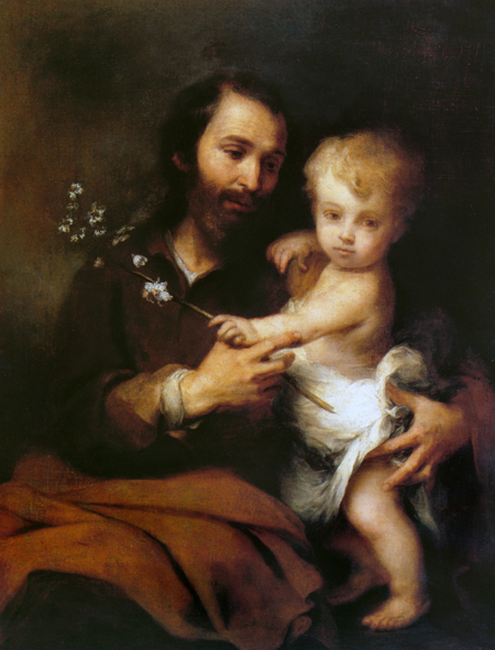 """St. Joseph and Christ Child"" – Bartolomé Esteban Murillo"